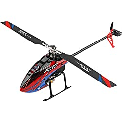 Motto.HWeili K130 Helicóptero RC, helicóptero de control remoto con giroscopio, mini control remoto de helicóptero de aleación de 6 canales para niños y adultos en interiores,Regalo de juguete ideal