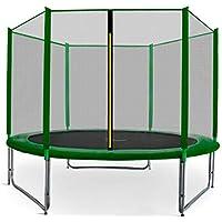 Preisvergleich für Gartentrampolin Aga Sport Pro, Trampolin Set mit Sicherheitsnetz, Federabdeckung und Sprungmatte! Gepolsterten Netzpfosten und Randabdeckung! 8ft-250cm