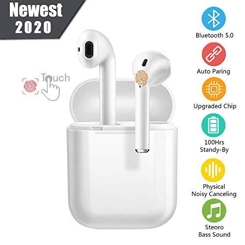 I12 Ecouteurs Bluetooth Ecouteurs sans Fil Oreillette Bluetooth Ecouteurs Bluetooth 5.0 Couplage Automatique Ecouteurs à réduction de Bruit dans l'oreille
