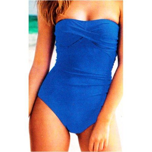 Badeanzug OCEAN VOYAGE mit Stützfunktion für den Bauch Figurschmeichler Farbe blau in 4 Größen Blau