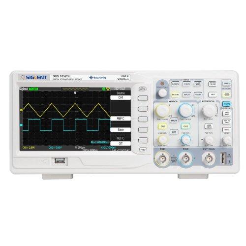 Siglent SDS1052DL - digitales Oszilloskop mit 2Kanälen und Bildschirm 7 Zoll / 18 cm, TFT-LCD-Display, 50MHz, 100-240V -