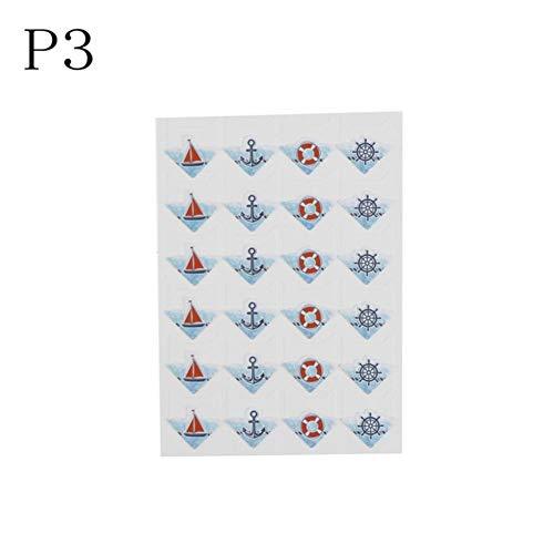 DACCU niedliche Papier-Aufkleber für Fotoalben, Rahmen, Dekoration, Scrapbooking, Cartoon, niedliche Tiere P3