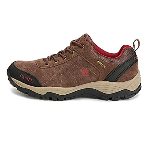 Camel Men's Outdoor Lace-Up Walking Shoes Color Coffee Size 43