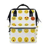 Große Kapazität Windeltasche Mumienrucksack für Babypflege, App Emoji, stylisch, multifunktional,...