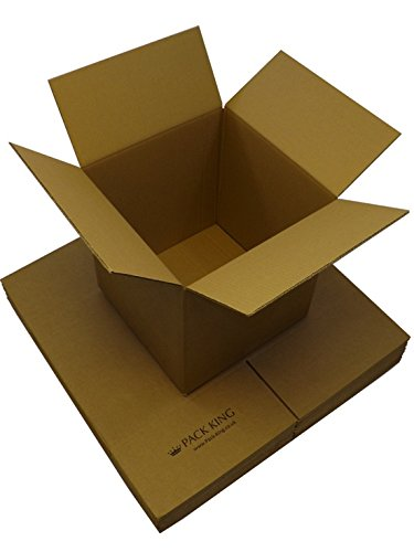 Compare Prices for 100 x Single Wall Brown Cardboard Boxes Packaging Postal, Mailing & Storage Strong Containers Flat Packed Corrugated Cartons House Moving / Removals – All Sizes Available (24″ x 18″ x 18″ / 610 x 457 x 457mm) on Line