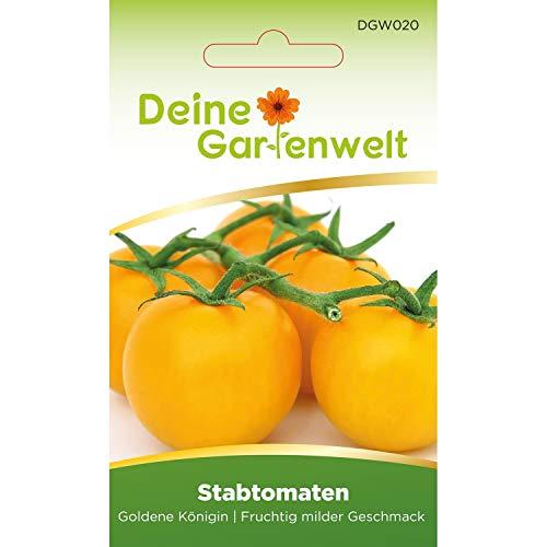 Stabtomate Goldene Königin Tomatensamen | Samen für gelbe Tomaten | Stabtomatensamen | Saatgut für Königin-Tomaten