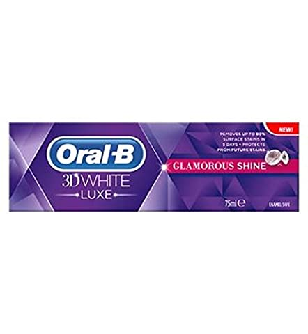 Oral-B Manual 3D White Luxe Glamour Shine Radiant Mint Toothpaste,