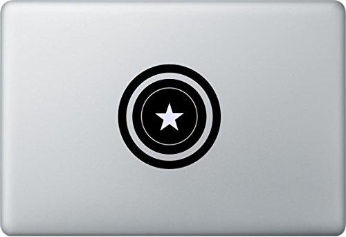 Apple MacBook Air Pro Sticker Aufkleber Captain America Decal Avenger (Captain America-mac-aufkleber)