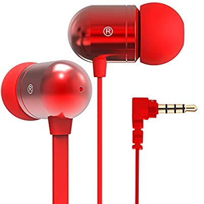 Betron B750s Earphones Headphones, High Definition, in-ear, Tangle-Free, Noise Isolating, Heavy Deep Bass for iPhone, iPod, iPad, MP3 Players, Samsung Galaxy, Nokia, HTC, Nexus