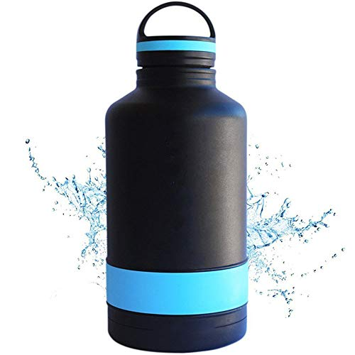 Dilunsizrf Outdoor Sports Tragbare Wasserflasche 64 Unzen Große Kapazität Edelstahl Isolierflasche -