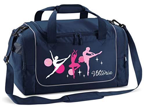 Mein Zwergenland Sporttasche in Frenchy Navy mit Namen, 38 L, Ballerina 2