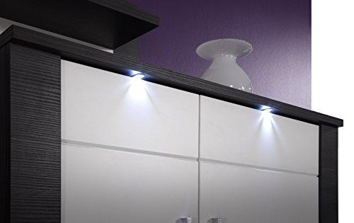 trendteam XP98710 Wohnwand Anbauwand Wohnzimmerschrank Xpress Esche grau Nachbildung und Fronten in weiß Nachbildung, 308 x 197 x 51 cm - 5