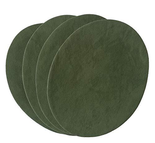Grüne Velour Hose (IHS Range 4er Set Bügelflicken Velour Bronze GRÜN zum Aufbügeln 11X14 cm I Stoffflicken Ausbesserungsflicken Reparatur-Flicken Reparatursatz Dekoration)