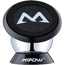Soporte Magnético Universal con Pegatinas Metalicas, Mpow Soporte Auto Car Mount Metálico 360° Rotación Apoyo Pegar a Cualquier Superficie para iPhone 6/ 6s 6 Plus y Android Móviles.