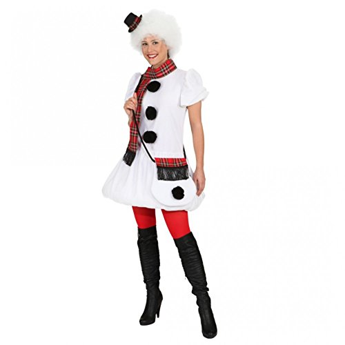 Karneval Kostüm Schneefrau - Unbekannt Kostüm Schneefrau Gr. 36-46 Kleid