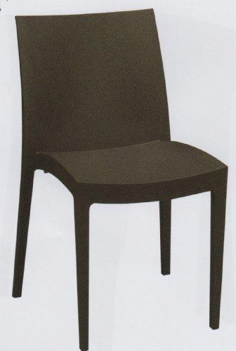 Grandsoleil Boheme Venice Greenpol Chaise empilable Vert, polymère, Anthracite, 51 x 49 x 80 cm