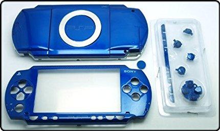 Neue Ersatz Sony PSP 1000Voll Gehäuse Shell Cover mit Button Set-Blau. (Sony 1000 Psp)
