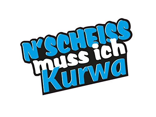 1 x Aufkleber N Scheiss muss ich Kurwa Polen Gag Spruch Polish Sticker Tuning
