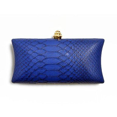 pwne Wome'S Hot Schlangenmuster Pu-Abend Clutch Bag Blue