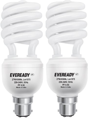 Eveready ELS 27-Watt CFL (White and Pack of 2)
