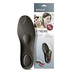 Bergal X-Treme Einlegesohle mit dämpfendem Fußbett für optimale Polsterung Größe 40