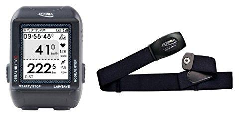 Posma GPS D2 wireless riciclaggio della bici Computer Contachilometri contagiri con navigazione collegamento ANT + Pacchetto con cardiofrequenzimetro (misuratore di frequenza cardiaca) BHR20