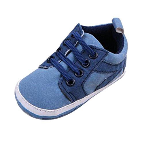 BZLine® 1 Paar niedliche Baby Schuhe Kleinkind weiche Sohle Schuhe Sneaker Hellblau