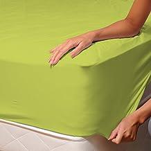 Verde (Lime) - SoulBedroom 100% Algodón Sábana bajera / 150 x 200 x 30 cm