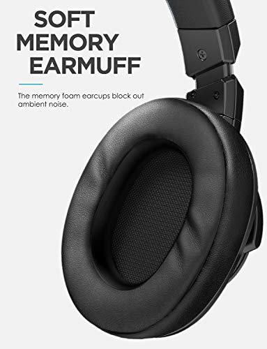 Mixcder E8 Aktive Geräuschunterdrückung Bluetooth Kopfhörer mit Mikrofon Active Noise Cancelling Kopfhörer Drahtloser Über-Ohr-Kopfhörer mit Stereoton,Faltbar, Kabelloses Headset mit Tiefem Bass - 3