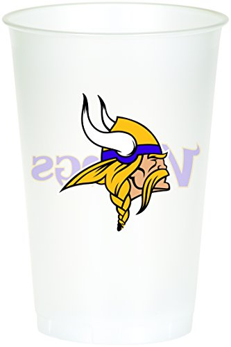 Unbekannt Creative Converting Offiziell Lizenzierte NFL Bedrucktem Kunststoff Tassen, 8-Count, 591ml, Minnesota Vikings Cups (Geburtstag Vikings Minnesota)