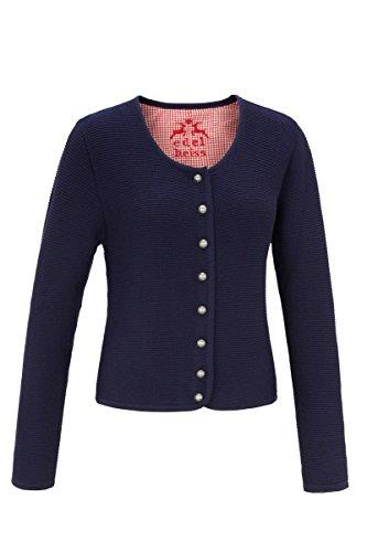 MOSER Trachten Strickjacke blau Hilde 124365 von Edelheiss, Material Baumwolle, 7000054, Größe 36