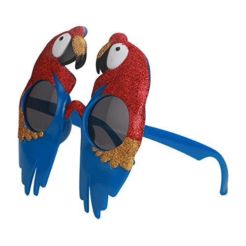 BESTOYARD Parrot Sunglasses Tropical Party Glasses Hawaiian Luau Party Supplies Novelty Sunglasses Party Prop Parrot Head Accessories