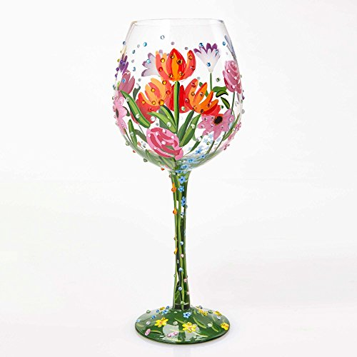 Lolita Superbling Spring Extra Large Wine Glass, Glas, Multi, 10 x 10 x 25.5 cm