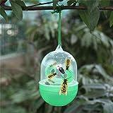 MMLsure Wespenfänger,Lange Kugel Form Fliegenfalle und Drosophila-Falle mit 3 Eingängen für Garten, Balkon & Terasse,Insektenfalle,Einfach mit Lockstoff Füllen,Insektenfalle Ohne Gift (Grün)