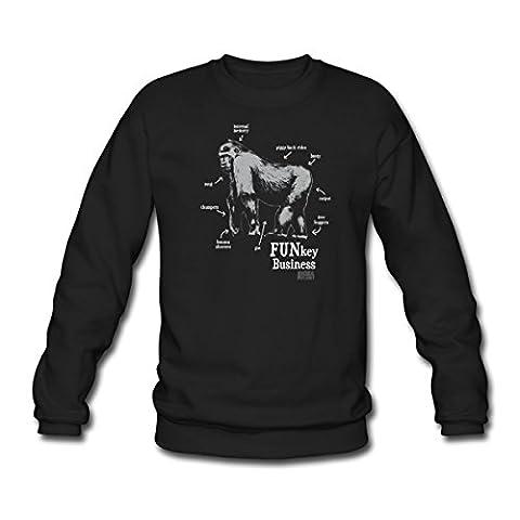 Monkey Funkey Animal Planet Men's Sweatshirt by Spreadshirt®, XXL, black