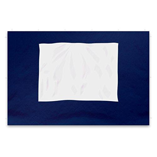 Nexos 2 Stück Seitenteile Seitenwände Ersatzwände mit Fenster für Profi Falt-Pavillon Festzelt - hochwertig - 295 x 215 cm/PE 180 g/m² - blau