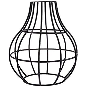 Retro Style Easy Fit Metal Pendant Cage Light Shade Funky Modern