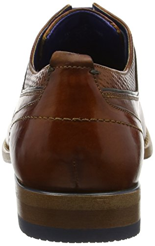 Bugatti 311193061110, Derby Homme Marron (Cognac/Blue 6340)