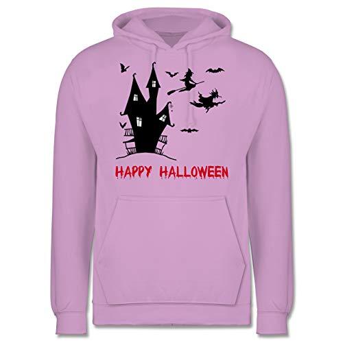 Shirtracer Halloween - Happy Halloween Hexen Haus - XS - Lavendel - JH001 - Herren Hoodie