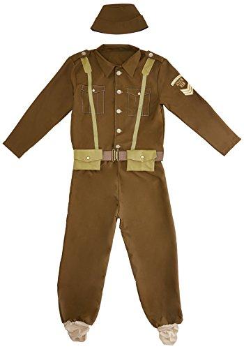 Rubie 's Offizielles 2. Weltkrieg Soldat, Erwachsene Kostüm–Standard (Militärische Kostüme Jacke Erwachsenen)