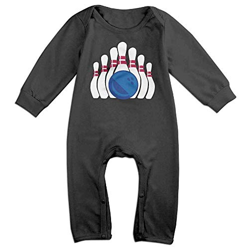 (TOPDIY Bowling Clipart Long Sleeve Baby Romper Jumpsuit Onsies Bodysuit)