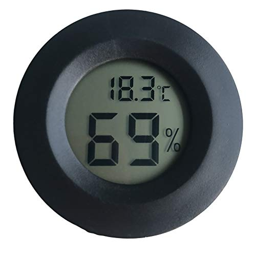 gotyou Schwarz Runde Digitales Thermo-Hygrometer,4,5 cm Mini LCD Display OutdoorIndoor Temperatur...