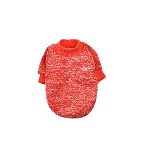 Sungpunet Classic Mini Hundebekleidung Strickwaren Hund Pullover Snowflake Texture Velvet Hundekleidung im Herbst und Winter Red XXL