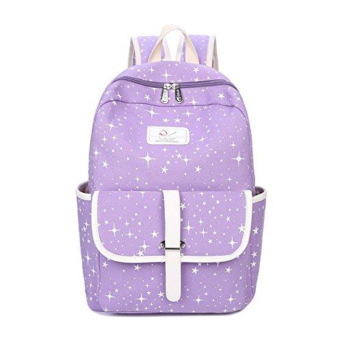 Zaino tempo libero timbro femminile pacchetto studenti Preppy Ms. borsa da viaggio a doppio borse tracolla,A C