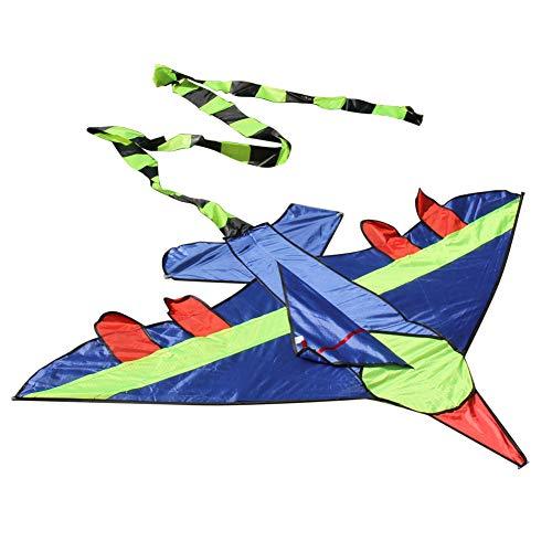 SECVBG Niños Volando Cometa Cola Larga Forma De Avión Cometas Kite Deportes Al Aire Libre Juguetes Niños Niños Truco Kite Surf Sin Hilo