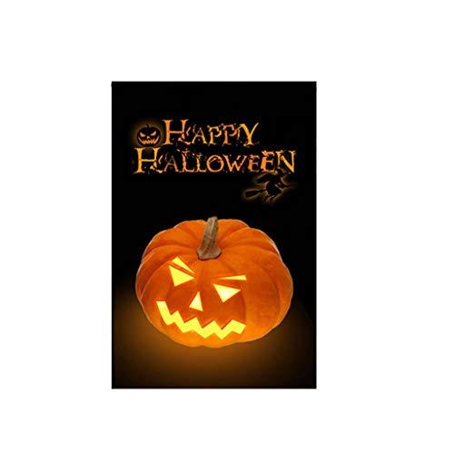 Mitlfuny Halloween coustems Kürbis Hexe Cosplay Gast Ghost Schicke Party Halloween deko,Halloween-Garten-Flaggen-Kürbis-doppelseitige Leinwand-Fahnen-Rasen-Dekor-Flagge im - Kleinkind Ghost Kostüm Kissenbezug