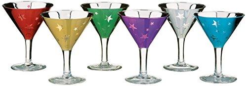 Artland Shooting Stars Mini Martinis, Multi/Bunt, Set von 6