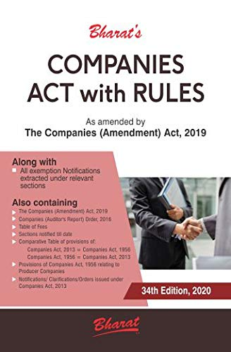 COMPANIES ACT, 2013 with RULES (Pkt edn.) 2020