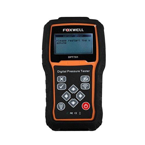 FOXWELL DPT701 - MEDIDORES DE PRESION DE COMBUSTIBLE 80 BAR DIGITAL HERRAMIENTA DE ESCANER 3 PANTALLA LCD TRANSMISOR INALAMBRICO DE DATOS PARA COCHE