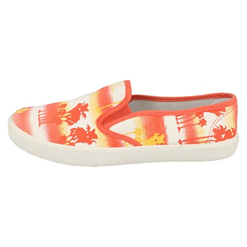 Spot On , Sandales Compensées femme orange/rose